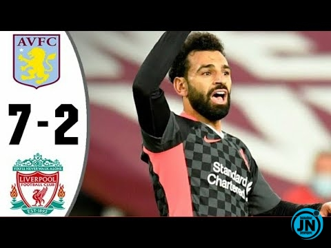 Aston Villa vs Liverpool 7-2 - All Goals and Highlights